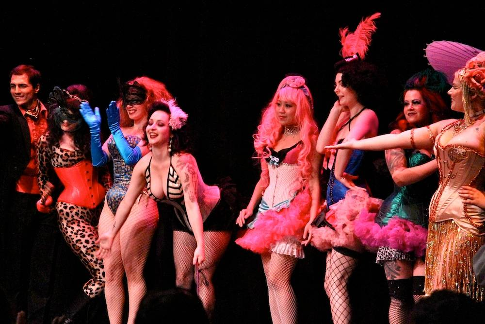 Bad Girls Burlesque at the Roundhouse Community Centre, Vancouver, Aug 19 2011. Robyn Hanson photo