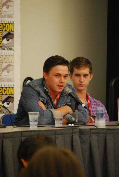Jesse McCartney and Harrison Thomas, who play Tyler Locke and Sam Lesser in the Locke & Key pilot.