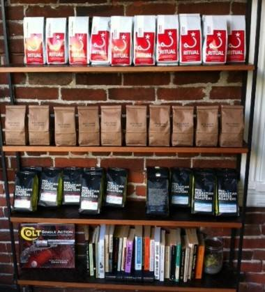Coffee beans at Revolver