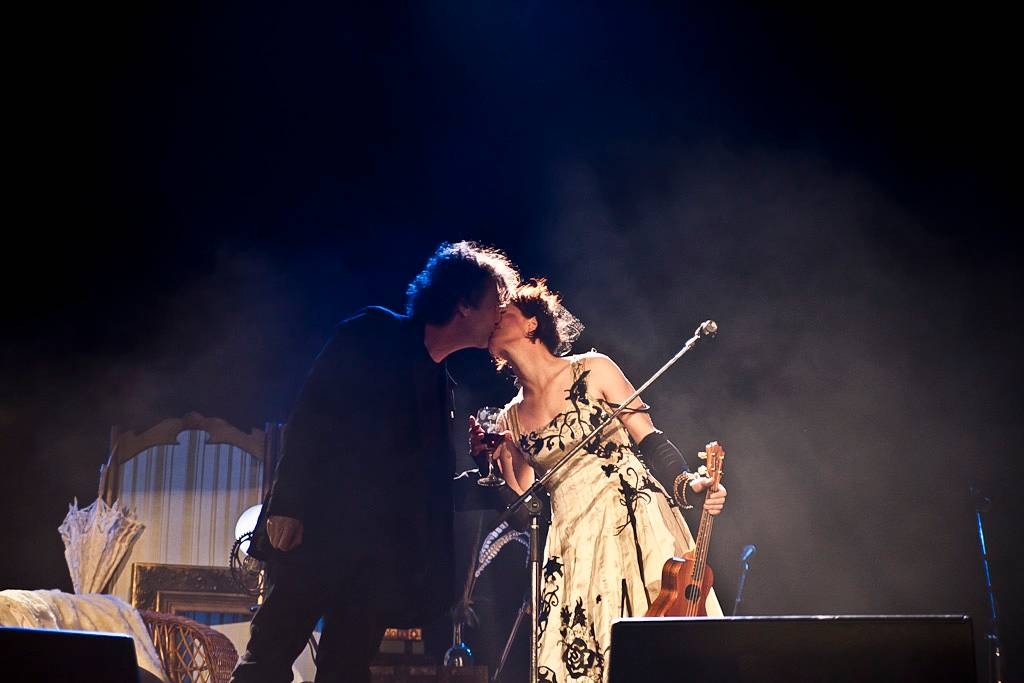 Neil Gaiman and Amanda Palmer at the Vogue Theatre photo