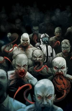 The Strain comic book issue one cover art Mike Huddleston.