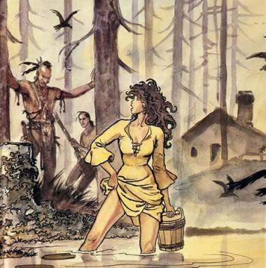 Milo Manara art from Indian Summer