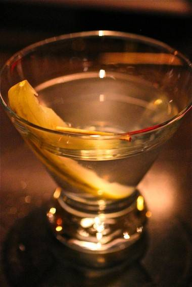 Dunn's Famous dirty pickle martini photo