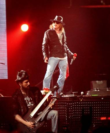 Guns N Roses at Pacific Coliseum Dec 17 2011 photo