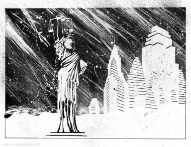 Frank Miller art from Holy Terror.