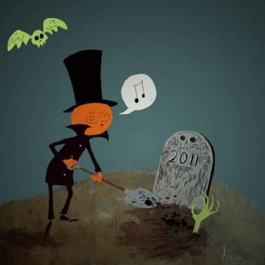 The Happy Undertaker art by Drazen Kozjan