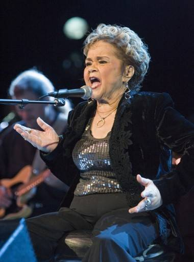Etta James performing live