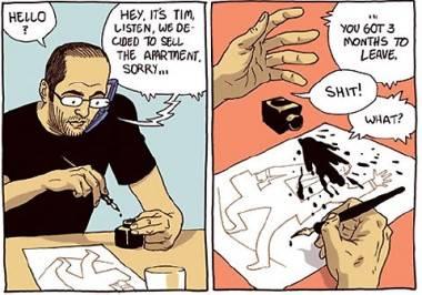 Asaf Hanuka art from The Realist webcomic.