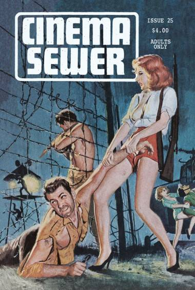 Cover art for Cinema Sewer issue 25