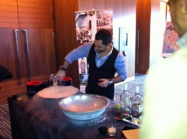 Liquid nitrogen at Tales of the Cocktail On Tour Vancouver photo