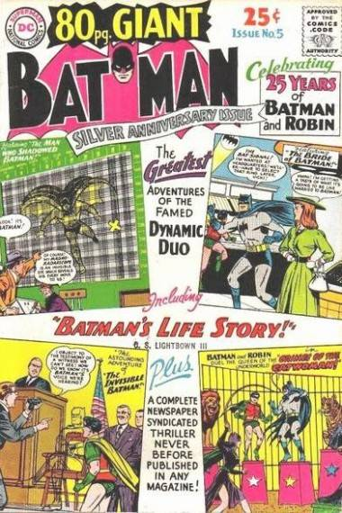 80-page Giant Batman comic book cover issue 5