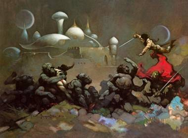 Warlord of Mars Frank Frazetta painting