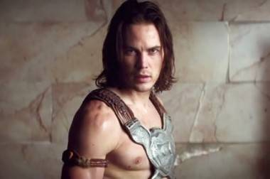 Taylor Kitsch as John Carter.