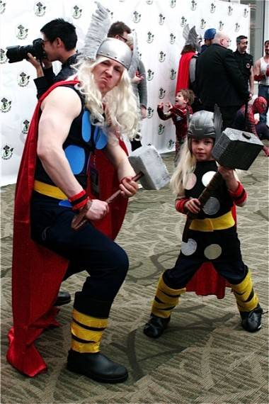 Thor costumes at Emerald City Comicon2012