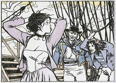 Panel from El Gaucho in Manara Library