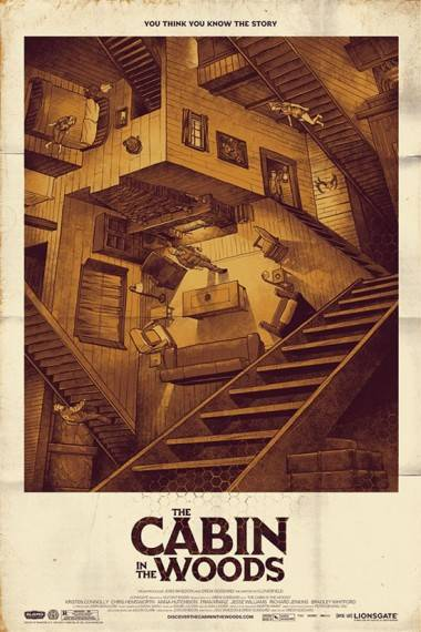 The Cabin in the Woods Mondo poster