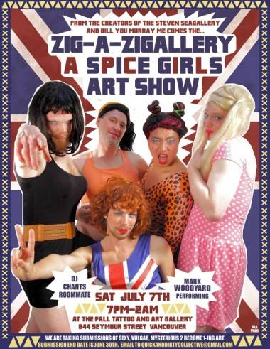 Spice Girls art show poster