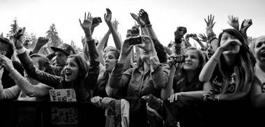Audience at Foster the People Burnaby concert photo