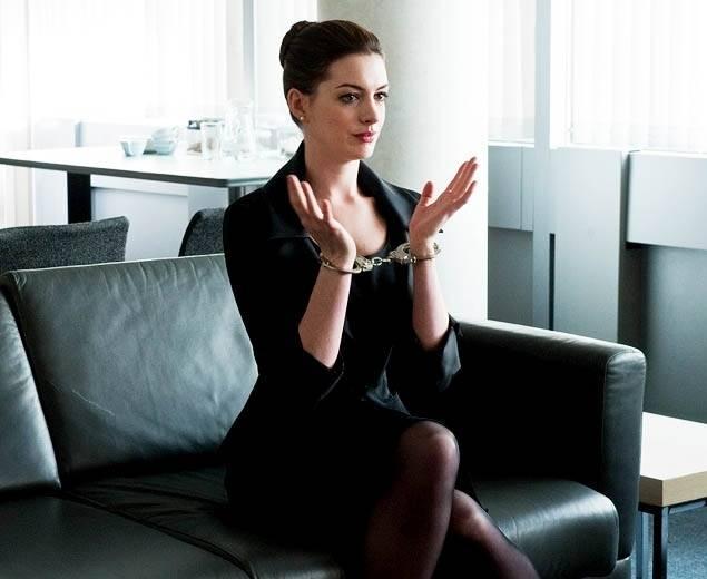 Anne Hathaway in handcuffs image