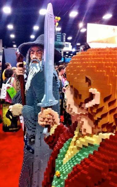 Lord of the Rings Lego sculpture