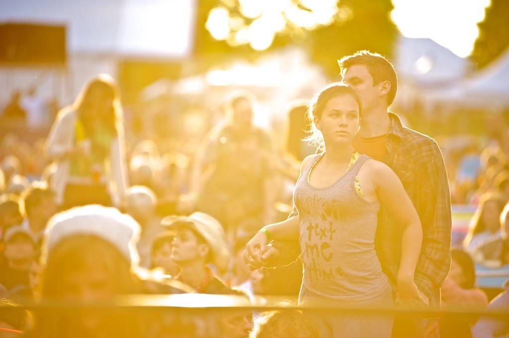 couple at the 2012 Vancouver Folk Music Festival