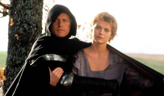 Rutger Hauer and Michelle Pfeiffer in Ladyhawke (1985)