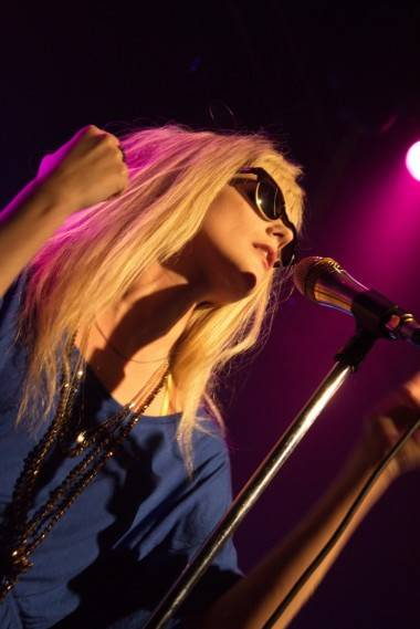 Mette Lindberg with Asteroids Galaxy Tour