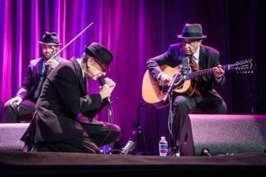 Leonard Cohen concert photo