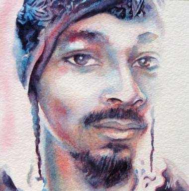 Snoop Dogg art show painting by Megan Allard