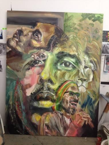 Snoop Dogg art show painting image