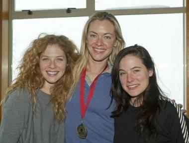 Rachelle Lefevre, Kristanna Loken and Caroline Dhavernas at Whistler Film Festival
