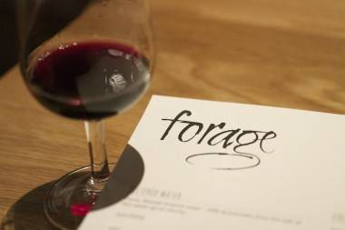 Forage Restaurant menu