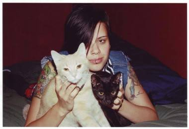 old photo of sid and kitties