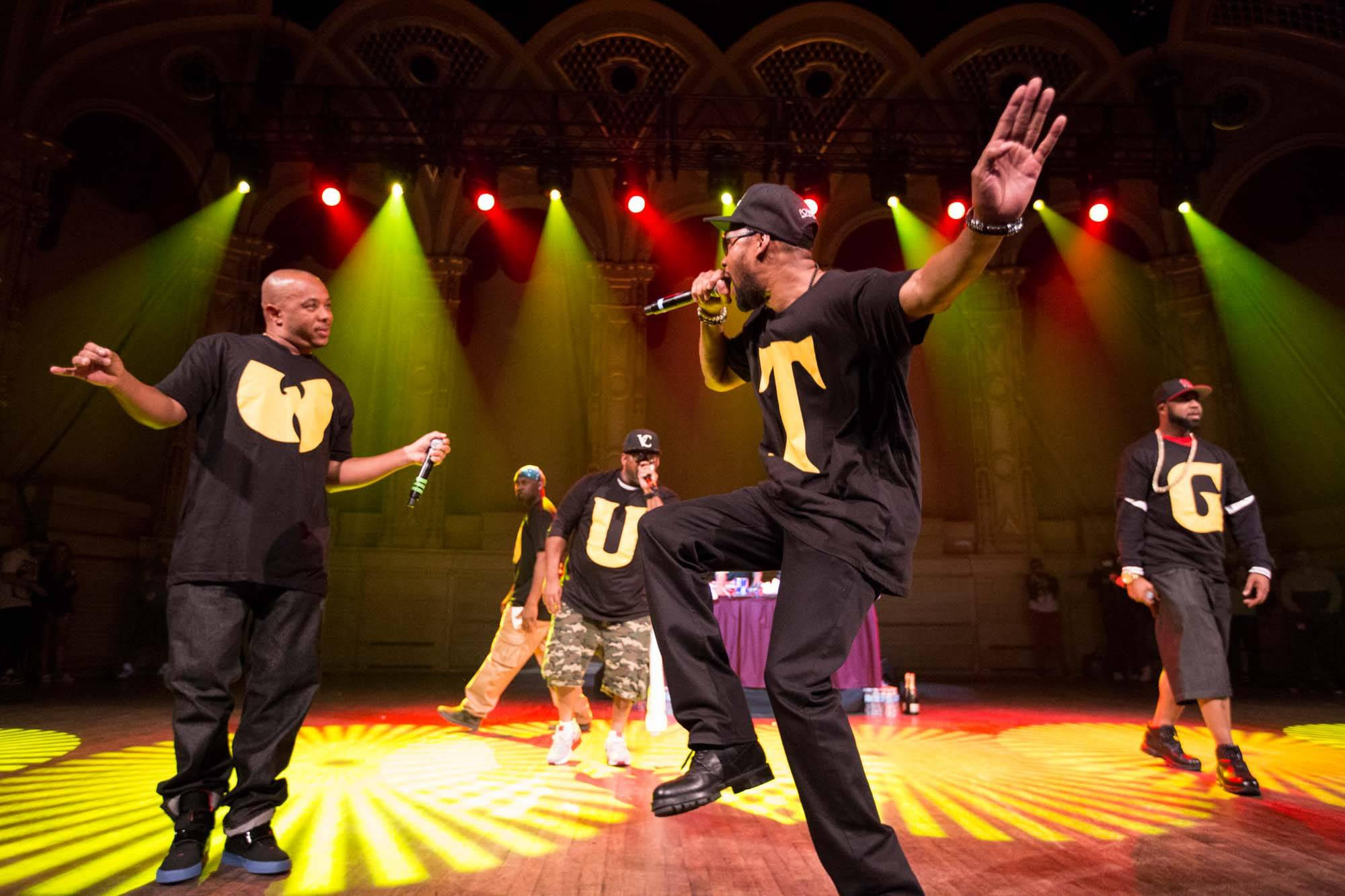 Wu Tang Clan at the Orpheum Theatre, Vancouver, June 28 2014. Kirk Chantraine photo.