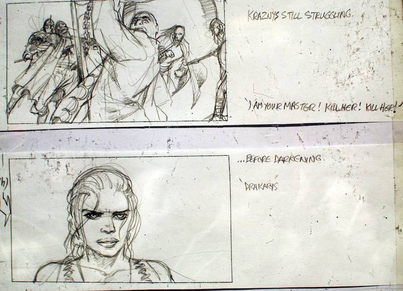 Storyboard from Game of Thrones, on exhibit at the PNE 2014. . Ryan Ingram photo.