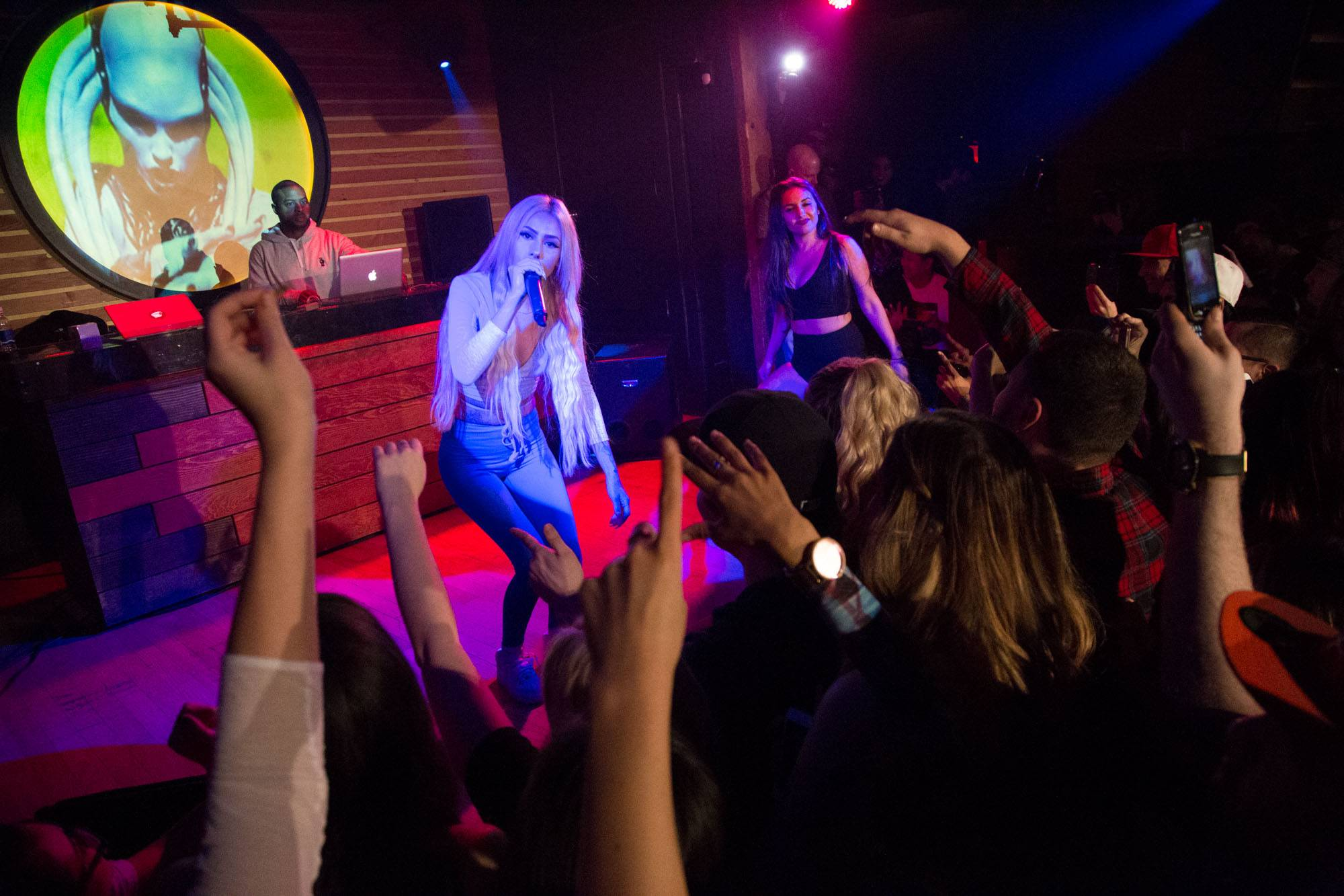 Lil Debbie at Fortune Sound Club, Vancouver, Feb. 27 2015. Kirk Chantraine photo.
