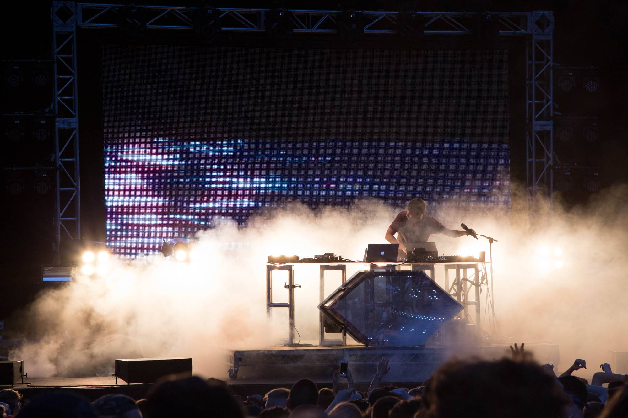 Flume at the Malkin Bowl, Vancouver, May 21 2015. Kirk Chantraine photo.