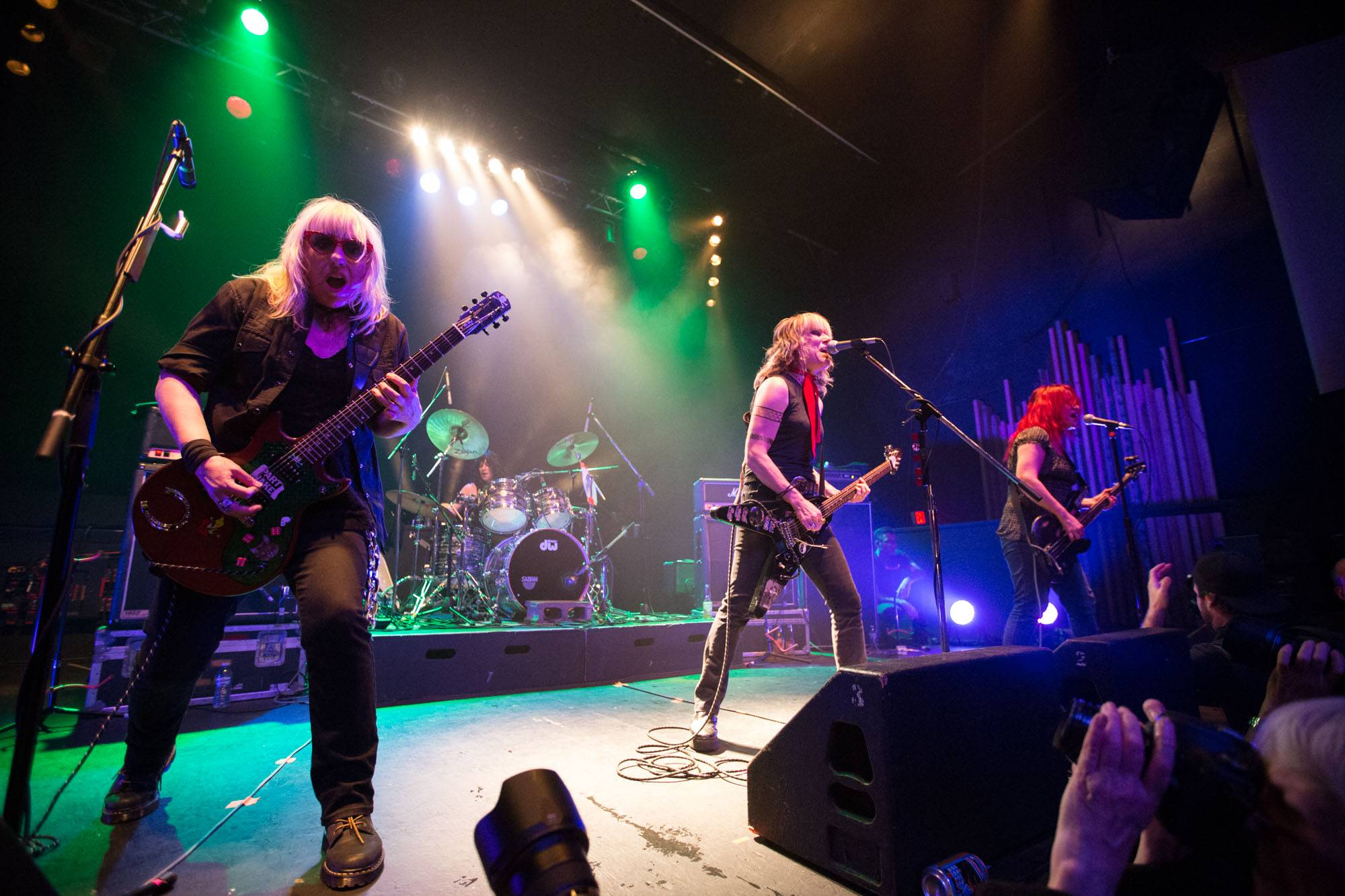 L7 at the Rickshaw Theatre, Vancouver, Nov 4 2015. Kirk Chantraine photo.