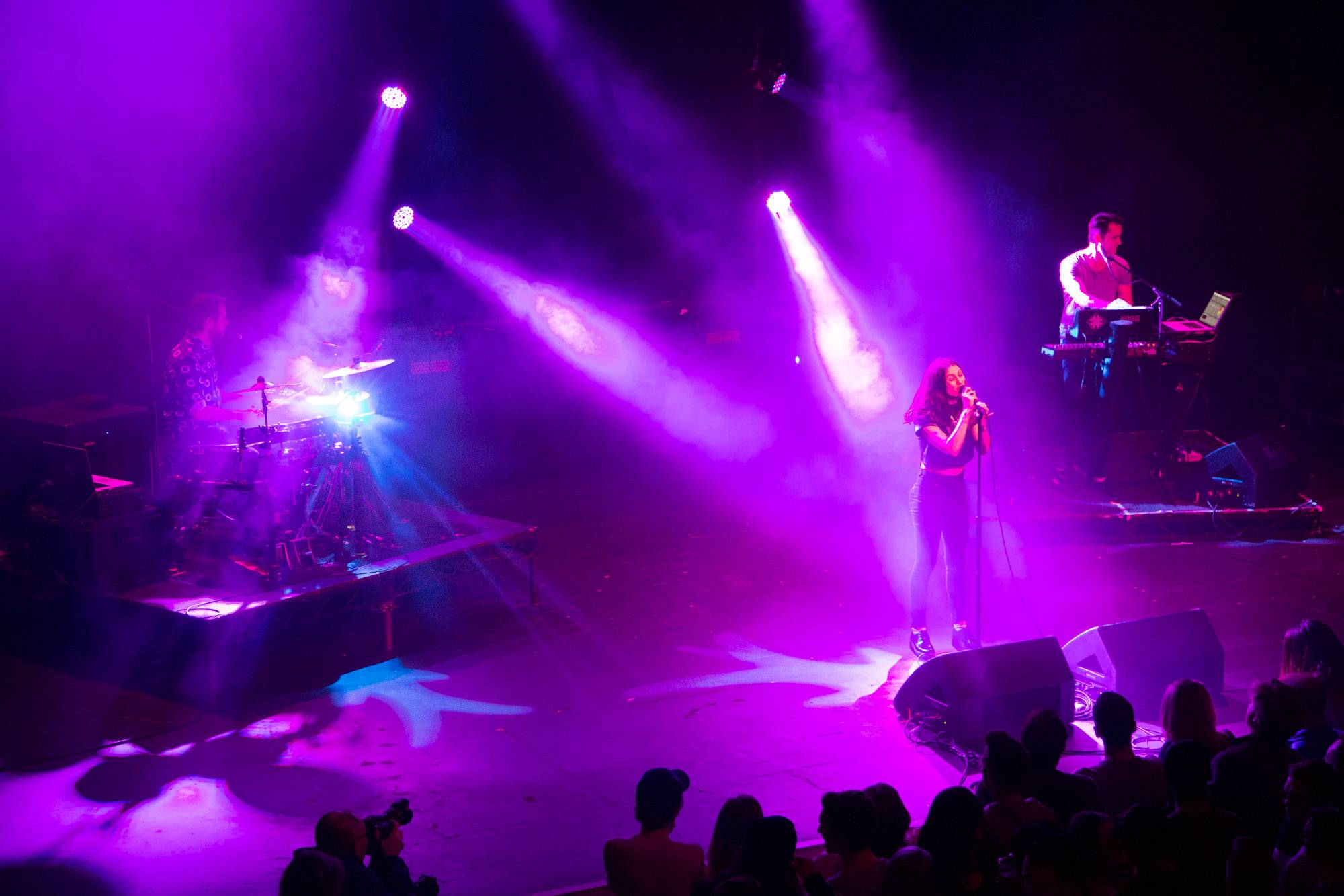 Dragonette at the Vogue Theatre, Vancouver, Dec. 11 2015. Kirk Chantraine photo.
