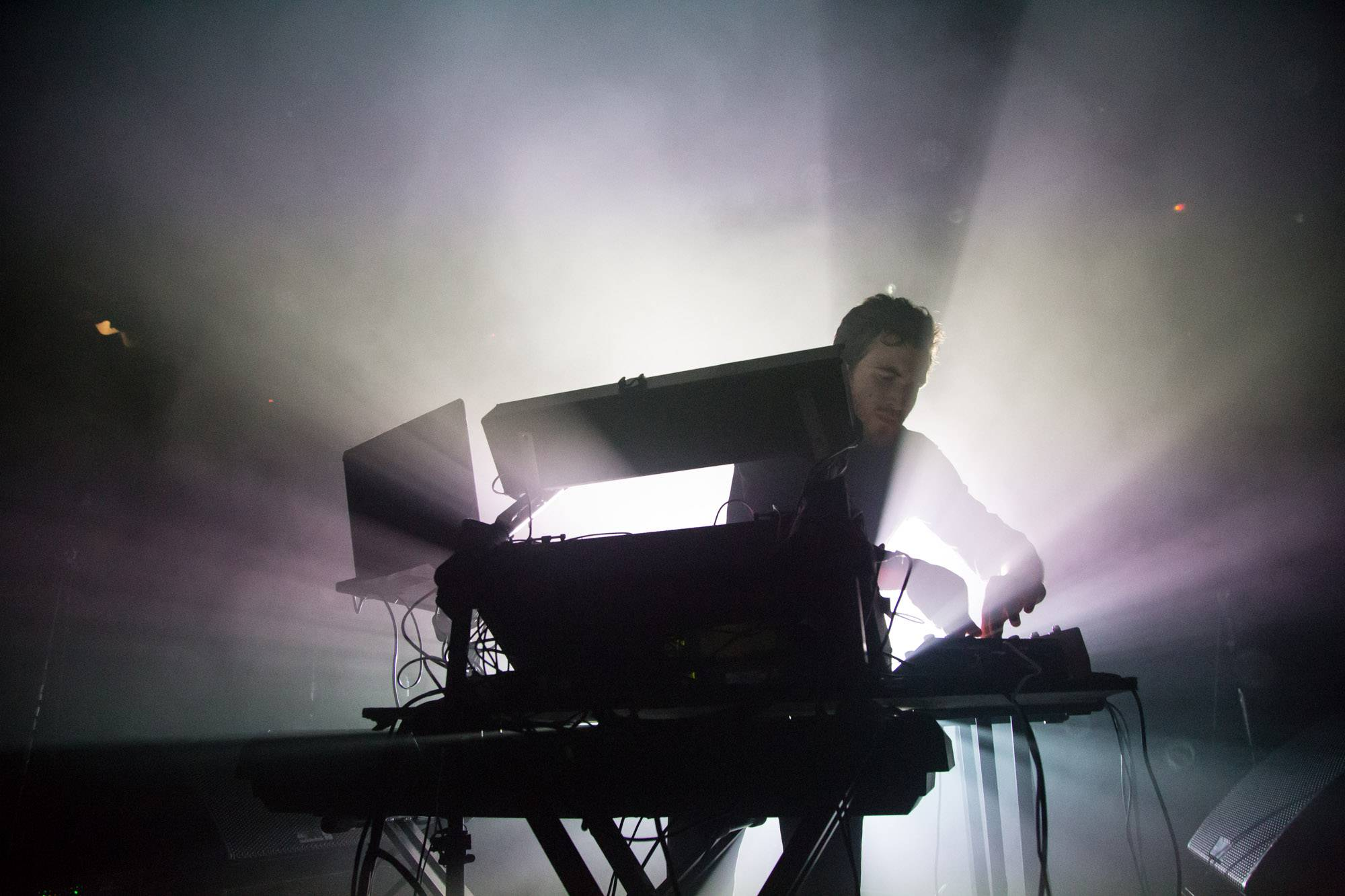 Nicolas Jaar at the Commodore Ballroom, Vancouver, Nov. 1 2016. Kirk Chantraine photo.