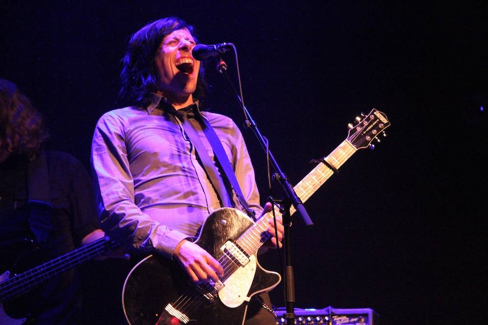 Ken Stringfellow onstage with The Posies at Venue Vancouver, Dec 10 2010. Robyn Hanson photo.