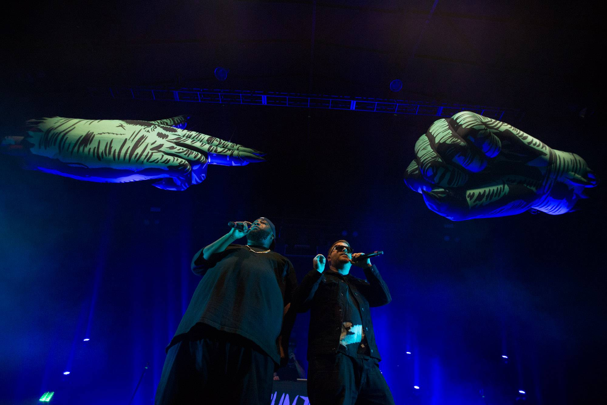 Run The Jewels at the PNE Forum, Vancouver, Feb. 8 2017. Kirk Chantraine photo.