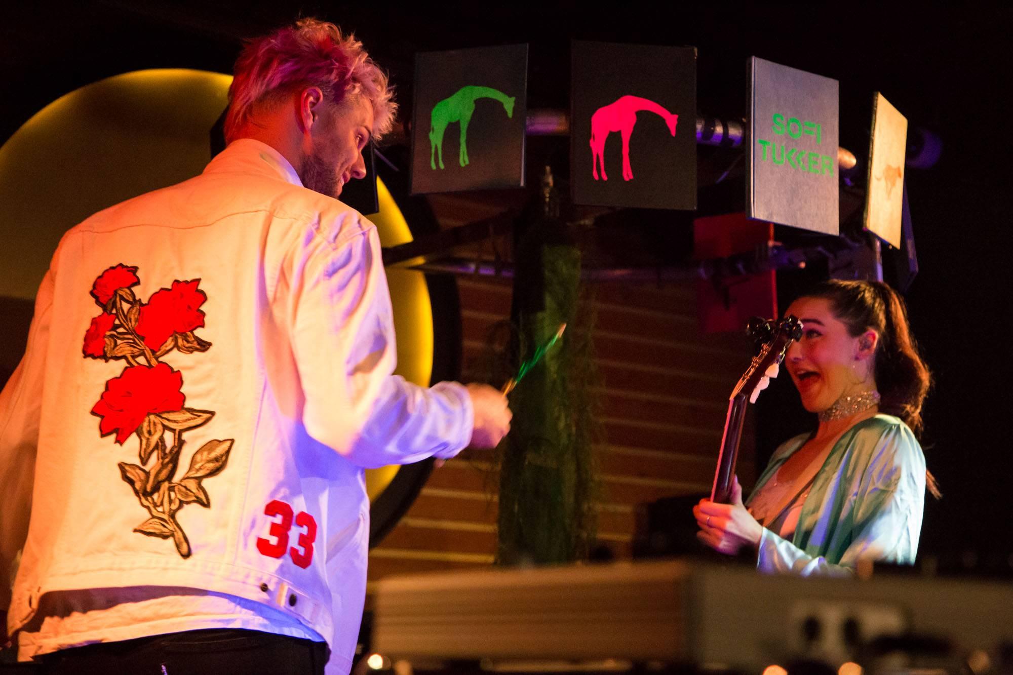 Sofi Tukker at Fortune Sound Club, Vancouver, Apr. 29 2017. Kirk Chantraine photo.