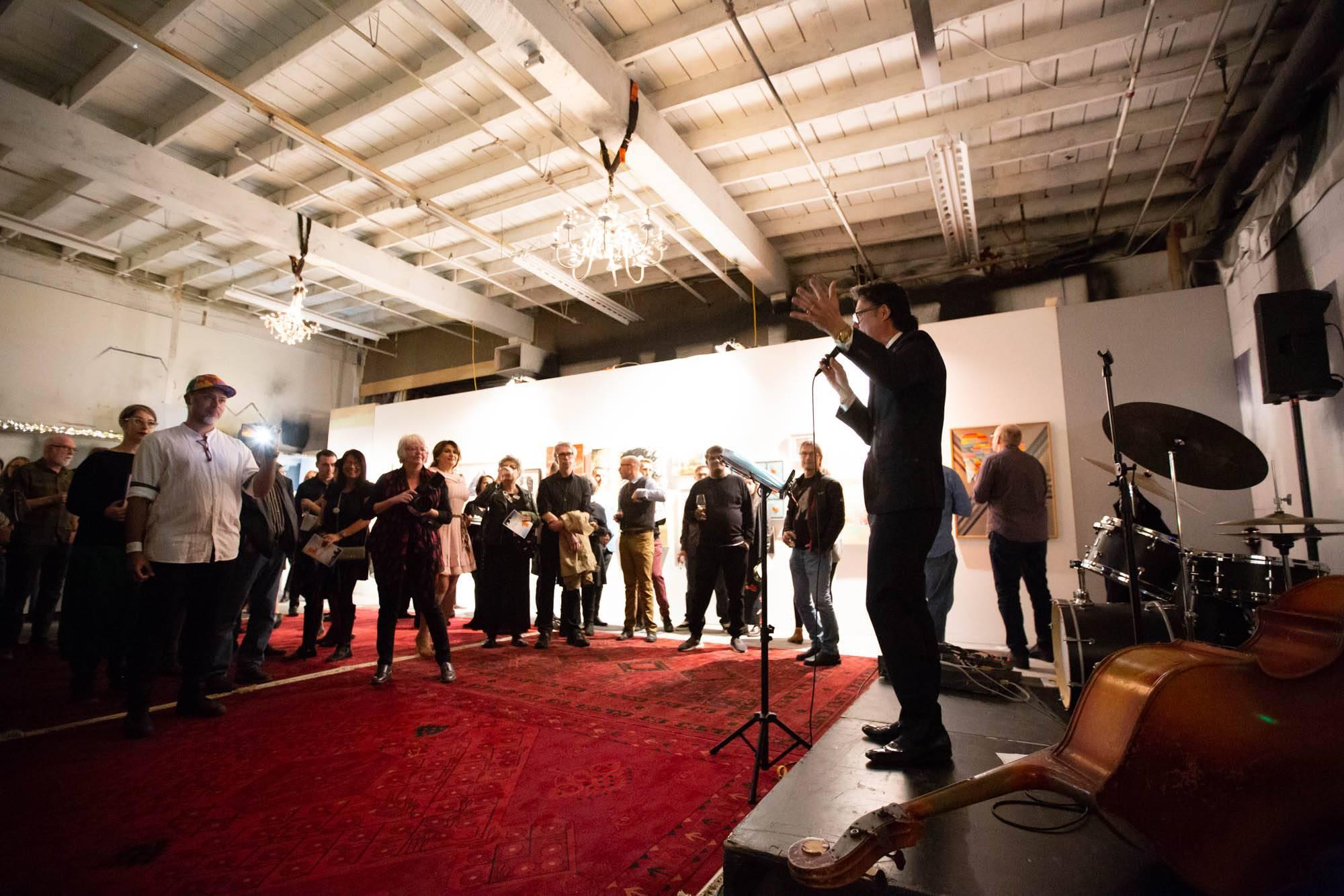 Take Flight 2018 Culture Crawl Festival Launch, Vancouver, Oct 27 2018. Kirk Chantraine photo.