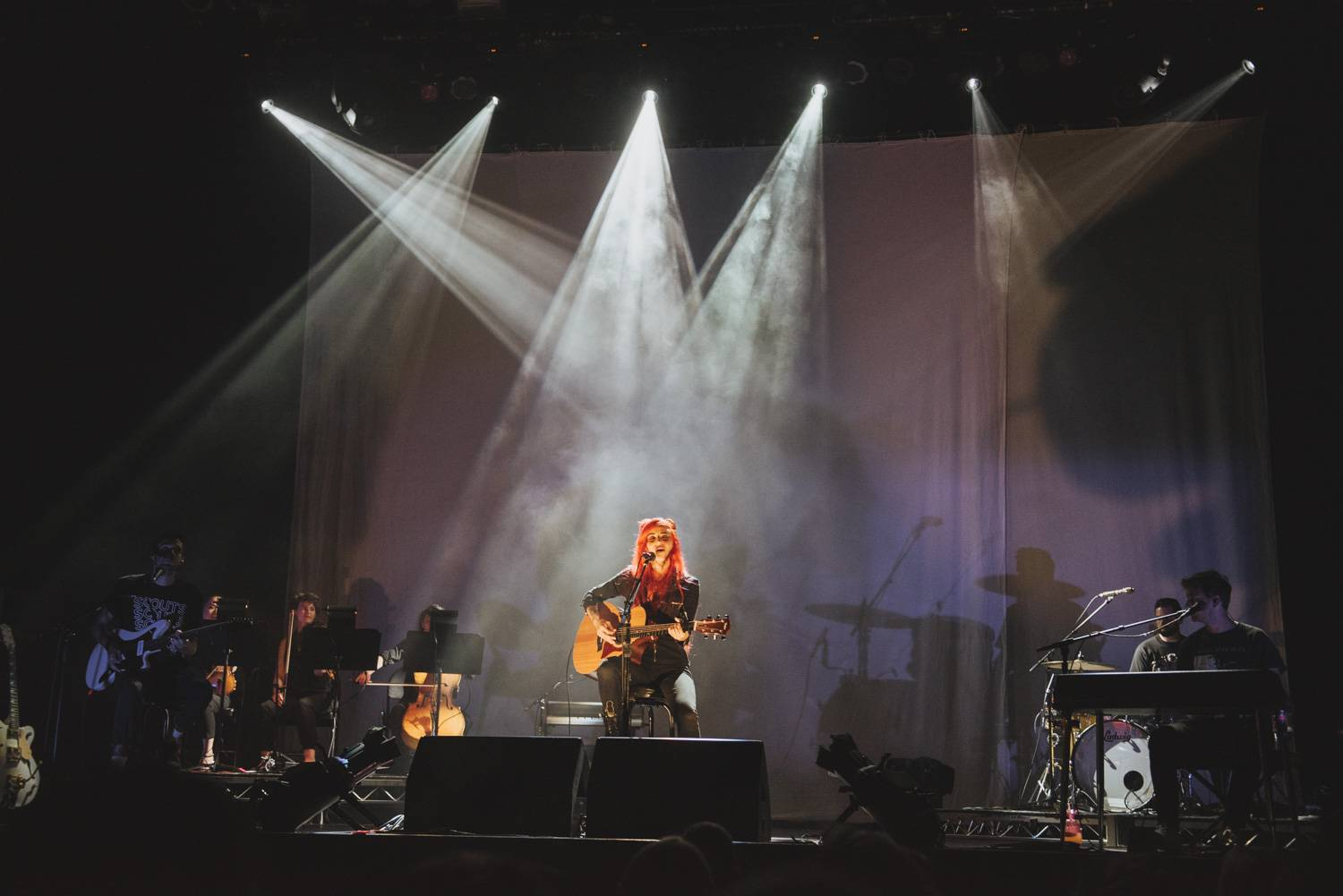 Lights at the Vogue Theatre, Vancouver, Aug 16 2019. Pavel Boiko photo.