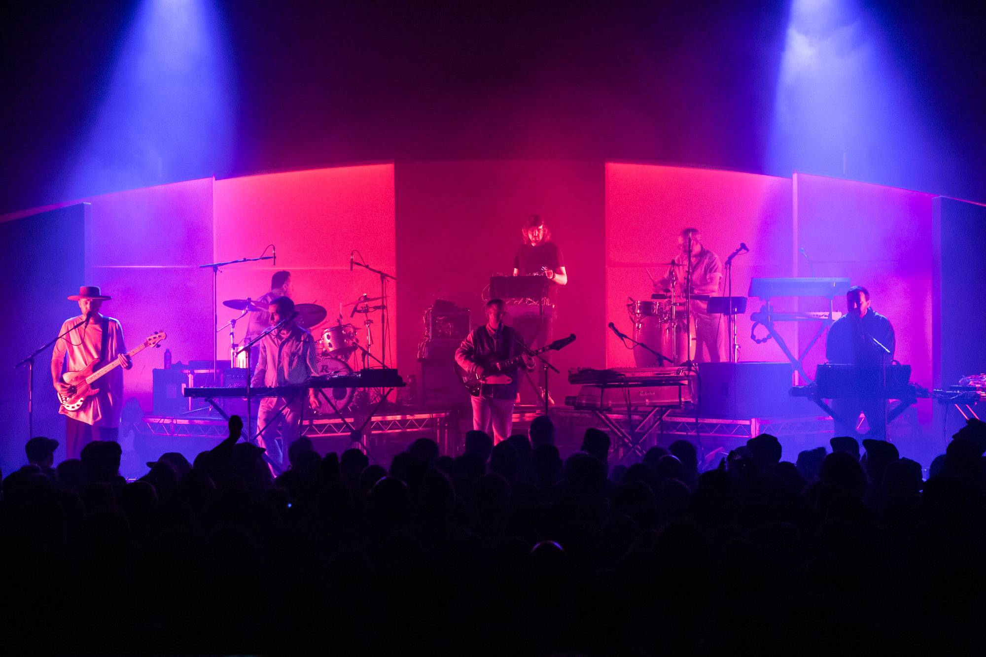 Hot Chip at the Vogue Theatre, Vancouver, Sep 17 2019. Kirk Chantraine photo.