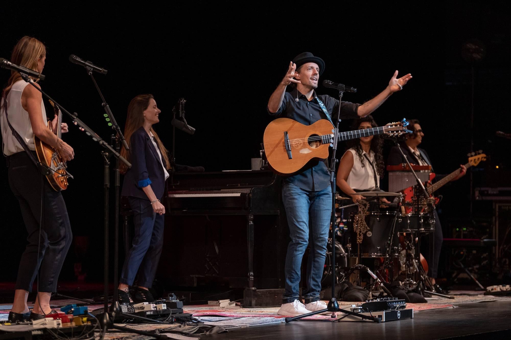 An Evening with Jason Mraz & Raining Jane at the Queen Elizabeth Theatre, Vancouver, Nov 8 2019. Scott Alexander photo.